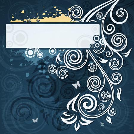 floral grunge: Abstract floral grunge illustration