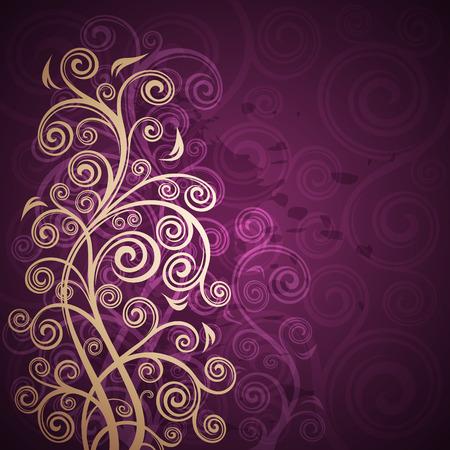 Abstract floral grunge background illustration. Illustration