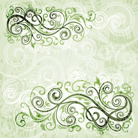 floral grunge: Abstract floral grunge background