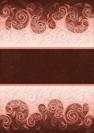 floral grunge: Abstract floral grunge background illustration. Illustration
