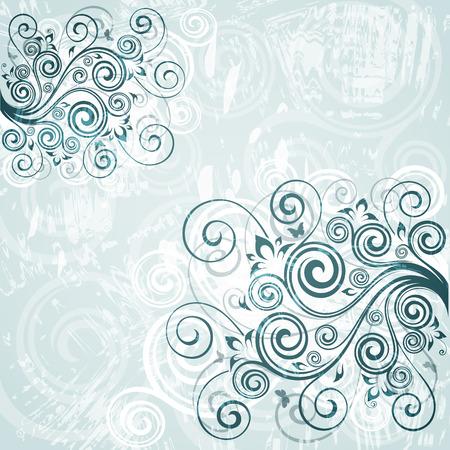 backdrop: Vintage floral backdrop Illustration