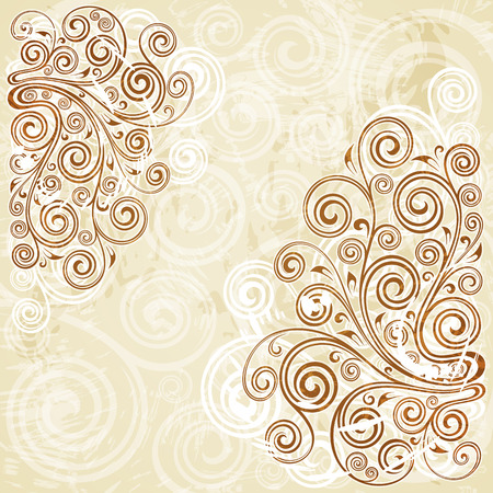 curled up: floral background