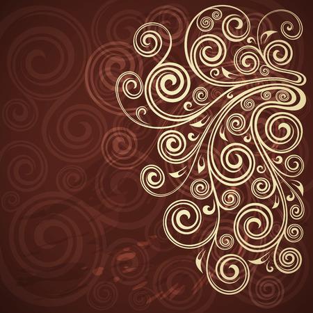 floral grunge: Abstract floral grunge background illustration