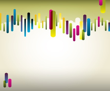 Vector rainbow background with color cylinders Vector