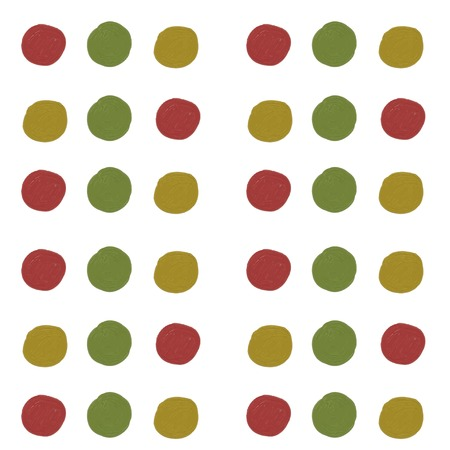 rounds: Simple seamless pattern, oil painting, hand draw rounds