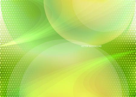 Vector green orange background in dynamic style Illustration