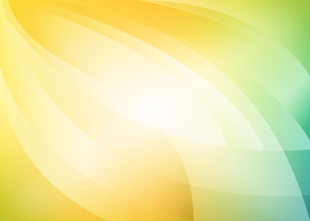 lightness: vector yellow green light blur background with arcs Illustration