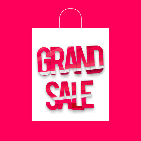 grand sale: vector template pink and white grand sale Illustration