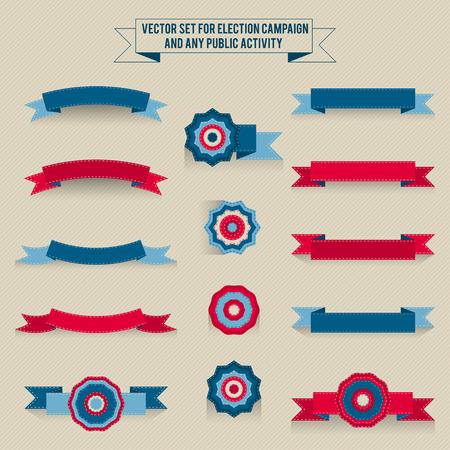 tricolor: Set of vector tri-color elements for design infographic