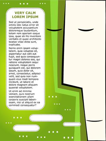 temperamento: Plantilla de folleto corporativo. La formaci�n de equipos y las emociones, calma