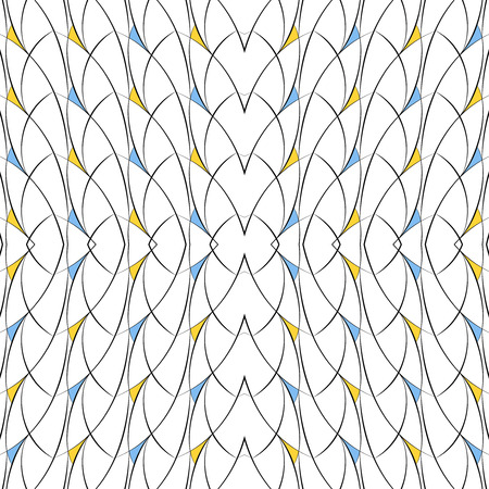 arcs: Vector seamless pattern of lines, arcs and triangles Illustration