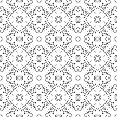 retro seamless pattern: Vector vintage seamless pattern. Elegant texture for any backgrounds