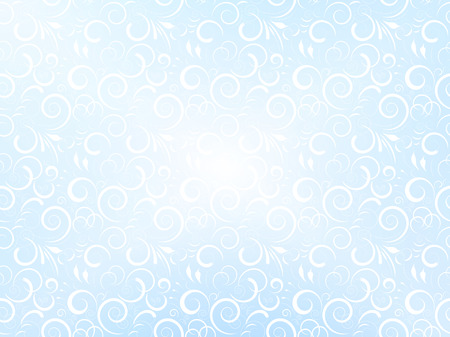 frost: Vector elegant vintage frost winter background, cool color