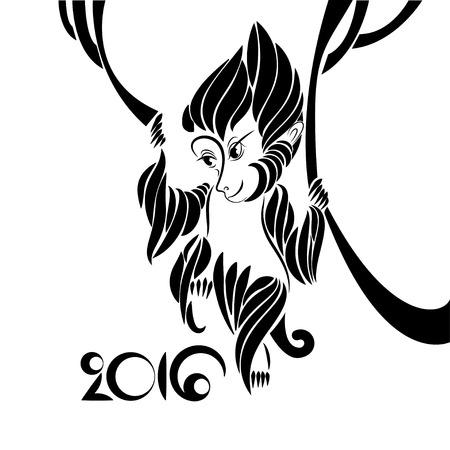 cliche: Monkey symbol of 2016 lunar year