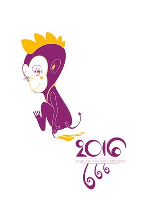 cliche: Vector monkey and for year of the monkey Illustration