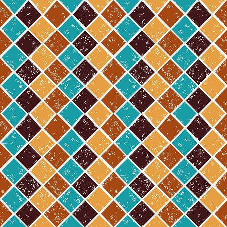 preppy: Vector argyle seamless pattern in browm color scheme