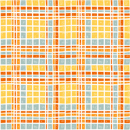 preppy: Vector plaid seamless pattern in yellow color scheme for wrapping paper design