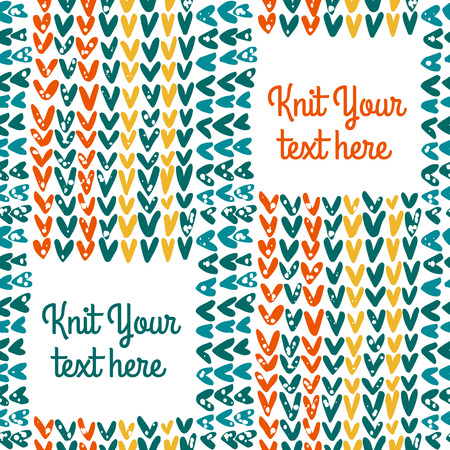 hinges: vector knitted seamless pattern with text field Illustration