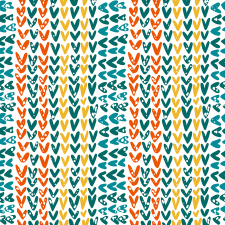 Knitted texture in the contrast color scheme, vector seamless pattern