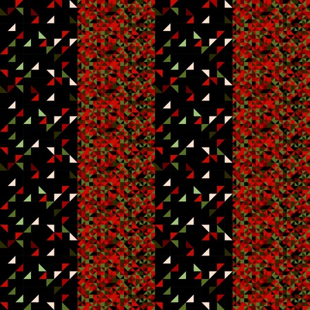 repeats: Retro polyginal seamless pattern for wrapping paper and origami, dark colors Illustration