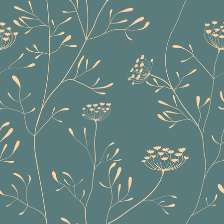 parsnip: Cow parsnip vector seamless pattern in delicate color Illustration