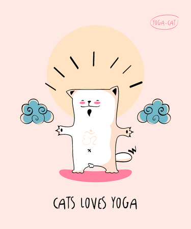 nirvana: Funny pic with Yoga Cat in nirvana