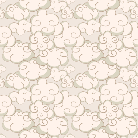 bodhisattva: Cartoon Oriental seamless pattern with chinese clouds