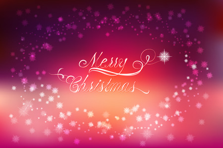 violette: Merry Christmas vector design with flares and sparkles