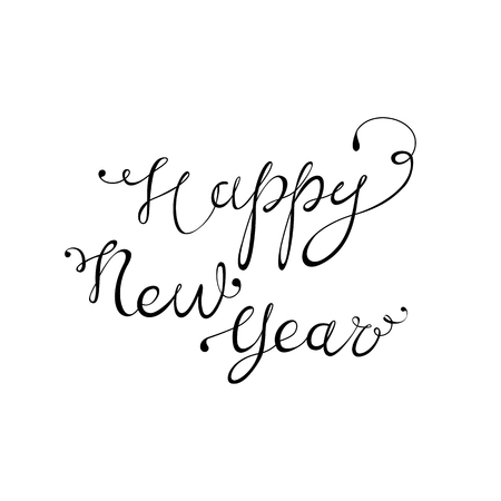 new year party: Happy New Year vector lettering for party design Illustration