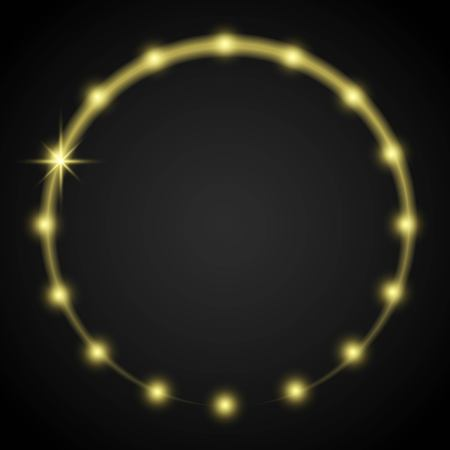lighting effect: Vector shiny decoration frame, lighting effect Illustration