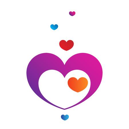 Vector gradient hearts for Valentine Day design Illustration