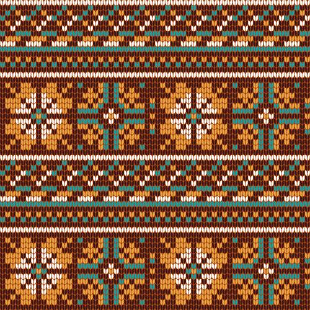 norwegian: Norwegian star knitting pattern Illustration