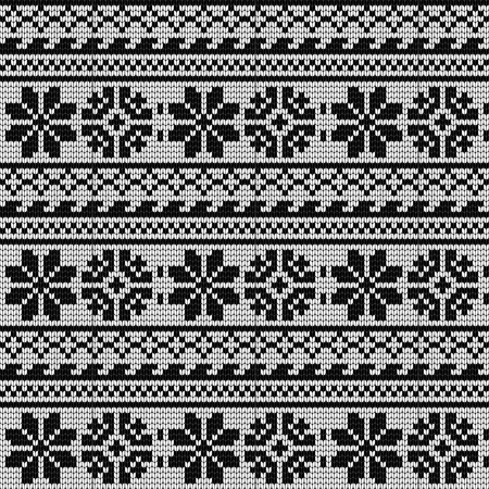 Norwegian star knitting pattern Illustration