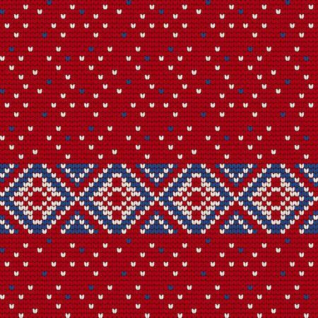 Traditional knitting pattern for Ugly Sweater, vector seamless pattern Illustration