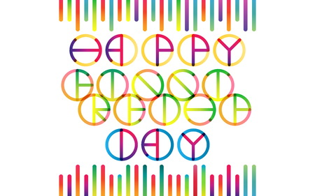 Happy Friendship Day color transition lettering in trend
