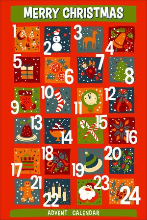 countdown: Cartoon Christmas Advent Calendar