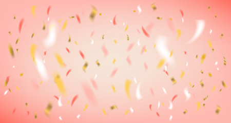 Disco party vector pink background with foil confetti