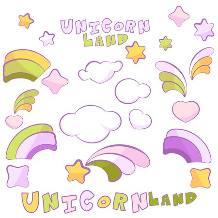 Unicorn Land items in light colors