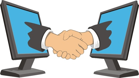 The deal between businesses via the Internet