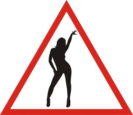 warning: woman