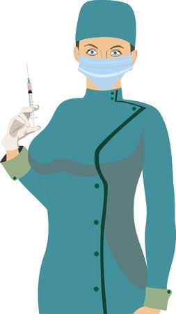 nurse injection: Infermiera
