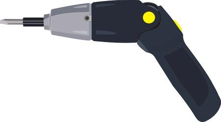 cordless drill Illustration
