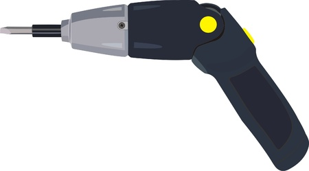 cordless: cordless drill Illustration