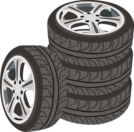 gripping: car wheels Illustration