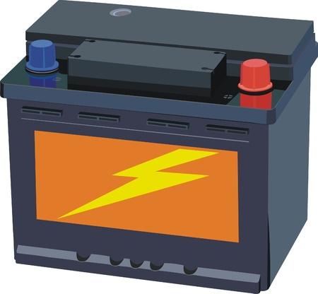 bateria: Batería de automóvil Vectores