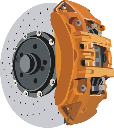 frenos: disco de freno Vectores