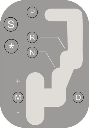 shift: Avtomatic gear shift Illustration
