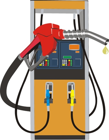 fossil fuel: fuel pump Illustration