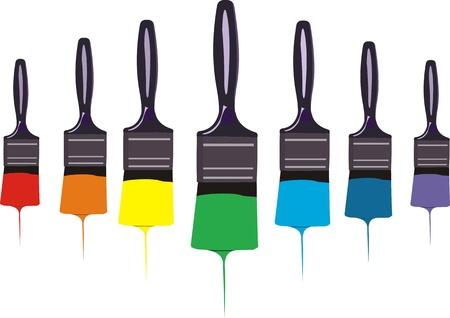 Paint brushes Illustration