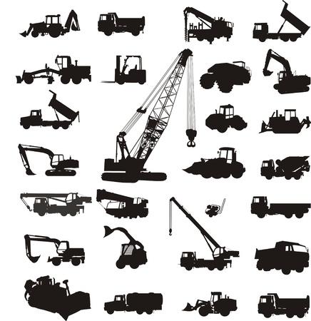 camion grua: equipos de construcción Vectores